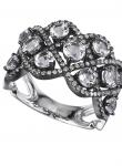 Braid White Topaz Diamond Ring