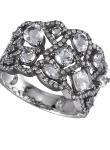 Mixed White Topaz Diamond Ring