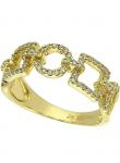 Geometric Shape Diamond Ring
