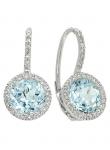 Blue Topaz Diamond Earring