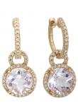 Round Semi-Precious Stone Earring