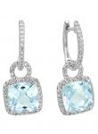 Cushion Semi-Precious Diamond Earring