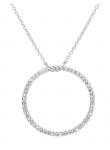Circle Diamond Necklace