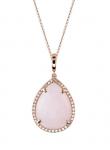 Pink Opal Diamond Necklace
