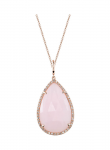 Rose Cut Pink Opal Necklace