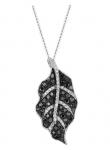 Black Diamond Leaf Necklace