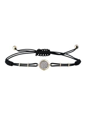 Diamond Disc Cord Bracelet