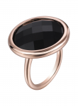 Modern Round Onyx Ring