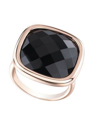 Modern Cushion Onyx Ring