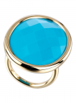 Modern Oval Turquoise Ring