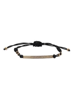 Diamond Two Rows Bar Cord Bracelet
