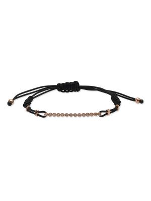 Diamond Bezel-Set One Row Cord Bracelet