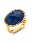 East West, Oval, Lapis, Diamond Ring